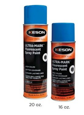 Keson SP20Y 20 oz Yellow Ultra-Mark Marking Paint - 12 pk.