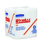 Kimberly-Clark WypAll L40 1/4 Fold Wipers-White