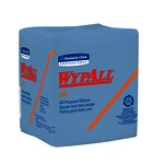 Kimberly-Clark WypAll L40 1/4 Fold Wipers-Blue