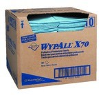 Kimberly-Clark WypAll X70 1/4 Fold Towels-Blue-12.5