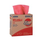 Kimberly-Clark WypAll X80 Pop-Up Box Wipers-Red