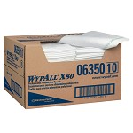 Kimberly-Clark WypAll X80 1/4 Fold Towels-White-13.5