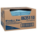 Kimberly-Clark WypAll X80 1/4 Fold Towels-Blue-13.5