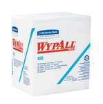 Kimberly-Clark WypAll X60 1/4 Fold Wipers-White-12.5