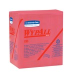 Kimberly-Clark WypAll X80 1/4 Fold Wipers-Red