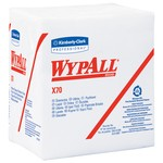 Kimberly-Clark WypAll X70 1/4 Fold Wipers-White
