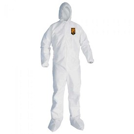 Kimberly-Clark A30 Breathable Splash & Particle Protection Hooded & Booted Coverall-L
