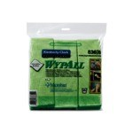 Kimberly-Clark WypAll Microfiber Cloths With Microban Protection-Green