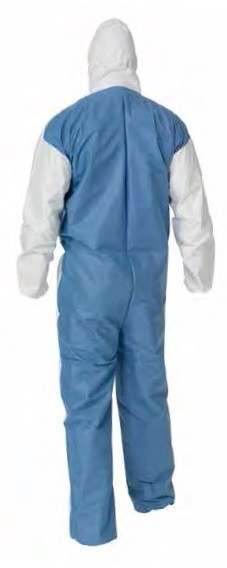 Kimberly-Clark A40 Liquid & Particle Protection Hooded with Blue Back Coverall-4XL