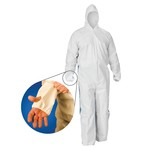 Kimberly-Clark A40 Liquid & Particle Protection Hooded with Blue Back & Thumb Holes Coverall-XL