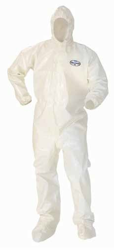 Kimberly-Clark A80 Chemical Permeation & Jet Liquid Protection Hooded & Booted Coverall-XL