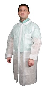 River City 1.25 oz Lab Coat-White-3XLarge