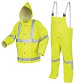River City Luminator Class 3 Hi-Vis Lime Suit with Overalls-Medium