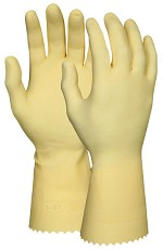 Memphis 16 mil Amber Latex Canners Gloves-Straight Cuff-Size 9-9.5