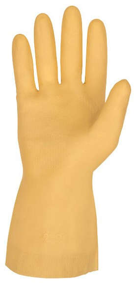 Memphis 18 mil Amber Latex Canners Gloves-Straight Cuff-Size 9-9.5