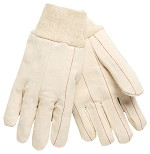 Memphis Nap-In Double Palm 18oz Cotton Gloves-Straight Thumb-Medium