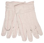 Memphis Nap-In Double Palm Band Top 18oz Cotton Gloves-Straight Thumb-Large