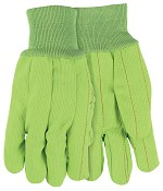 Memphis Nap-In Double Palm Corded Cotton Gloves-Hi-Vis Green-Large