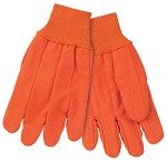 Memphis Nap-In Double Palm Corded Cotton Gloves-Hi-Vis Orange-Large