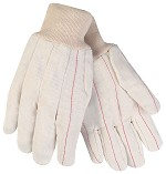 Memphis Nap-In Double Palm Corded Cotton Blend Gloves-Straight Thumb-Large