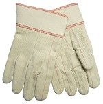 Memphis Nap-In Double Palm Safety Cuff 18oz Cotton Gloves-Straight Thumb-Large