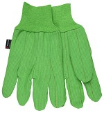 Memphis Nap-In Double Palm FR Knit Wrist Cotton Gloves-Hi-Vis Green-Large