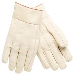 Memphis Nap-Out Double Palm Cotton Gloves-Plasticized Band Top-Large