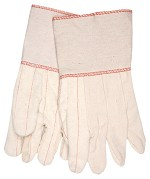 Memphis Nap-Out Double Palm Cotton Gloves-Plasticized Gauntlet-Large