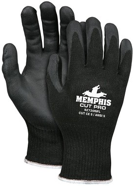 Memphis Cut Pro Black Nitrile Foam Coated HPPE Glove-10 Gauge-Small