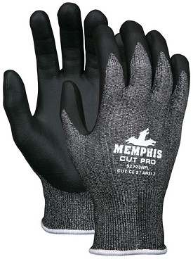 Memphis Cut Pro Black Nitrile Foam Coated HPPE Glove-13 Gauge-Large