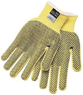 Memphis Kevlar 2 Sided PVC Dots Economy Weight Glove-7 Gauge-Small
