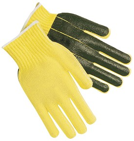 Memphis Kevlar-Cotton Regular Weight Glove-PVC Palm & Reflective Fingers-7 Gauge-Small