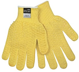 Memphis Honey Grip Double Sided PVC Honey Grip Kevlar Glove-7 Gauge-Medium