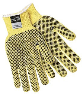Memphis Kevlar 2 Sided PVC Dots Heavy Weight Glove-7 Gauge-XLarge