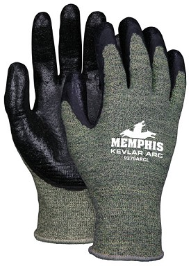 Memphis Kevlar Steel Black APG Coated Kevlar Glove-13 Gauge-Small