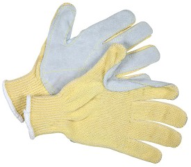 Memphis Kevlar-Cotton with Leather Palm Glove-7 Gauge-Large