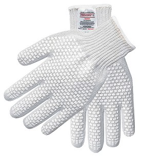 Memphis Steelcore II Regular Weight Glove-2 Sided PVC Blocks-7 Gauge-Small