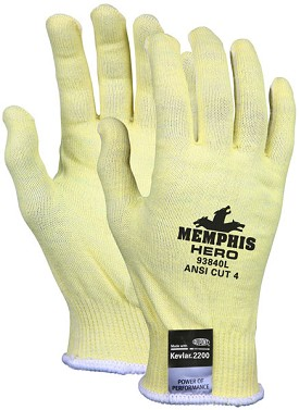 Memphis HERO Kevlar-Stainless-Spandex Light Weight Glove-13 Gauge-XSmall