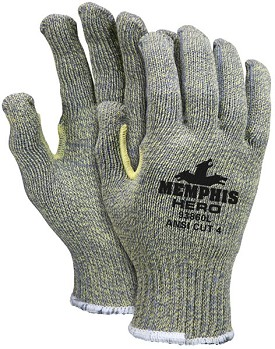 Memphis HERO Kevlar-Steel-Nylon Regular Weight Glove-7 Gauge-Large