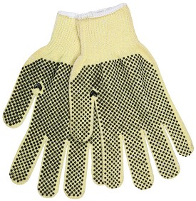 Memphis Kevlar Economy Regular Weight Glove-2 Sided PVC Dots-10 Gauge-Large