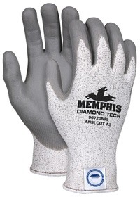 Memphis Dyneema Gray Nitrile Foam Coated Glove-13 Gauge-Small