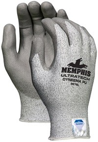 Memphis UltraTech Dyneema PU Gray Coated Glove-13 Gauge-Small