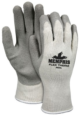 Memphis Flex Therm Fully Dipped Glove & Reflective Coated Palm & Reflective Fingertips-10-Gauge-XLarge