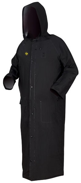 "River City Classic Plus Black 60"" Coat-Limited Flammability-4XLarge"