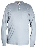 Memphis Max Comfort Long Sleeve Henley-Gray-Regular Medium