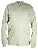 Memphis Max Comfort Long Sleeve Henley-Tan-Regular 2XLarge