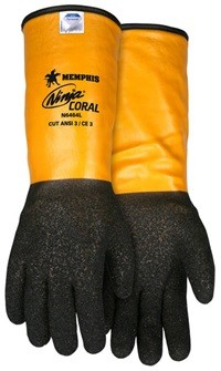 Memphis Ninja CORAL Dyneema Synthetic Black Coral Coated Glove-10 Gauge-XXLarge