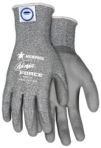 Memphis Ninja Force Dyneema Synthetic Gray Coated Glove-13 Gauge-XLarge