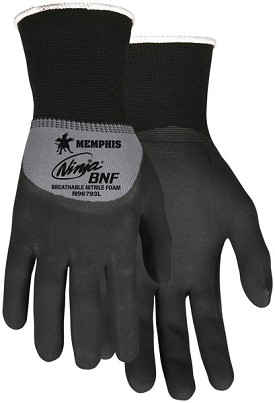 Memphis Ninja BNF Glove Coated Over the Knuckle-15-Gauge-Small