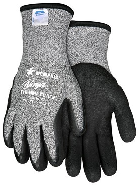 Memphis Ninja Therma Force Glove Coated Palm & Reflective Fingertips-13-Gauge-Large